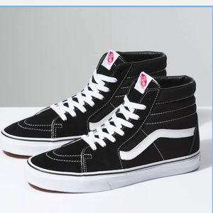 Vans old skool high top black shoes sz 8